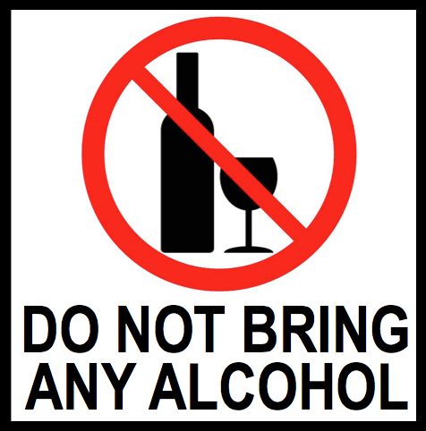 Event Rules No Alcohol
